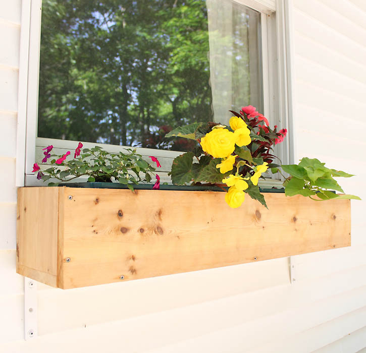 Best ideas about DIY Window Planter Box . Save or Pin DIY cedar window boxes Gina Michele Now.