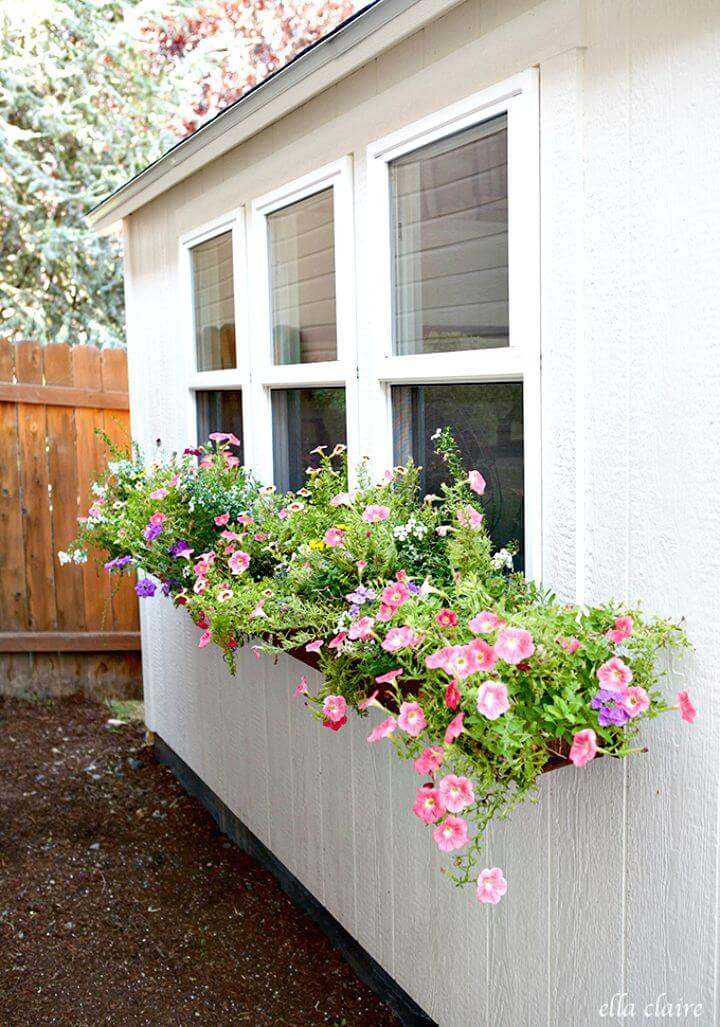 Best ideas about DIY Window Planter Box . Save or Pin DIY Window Planter Box Ideas 14 Easy Step by Step Plans Now.