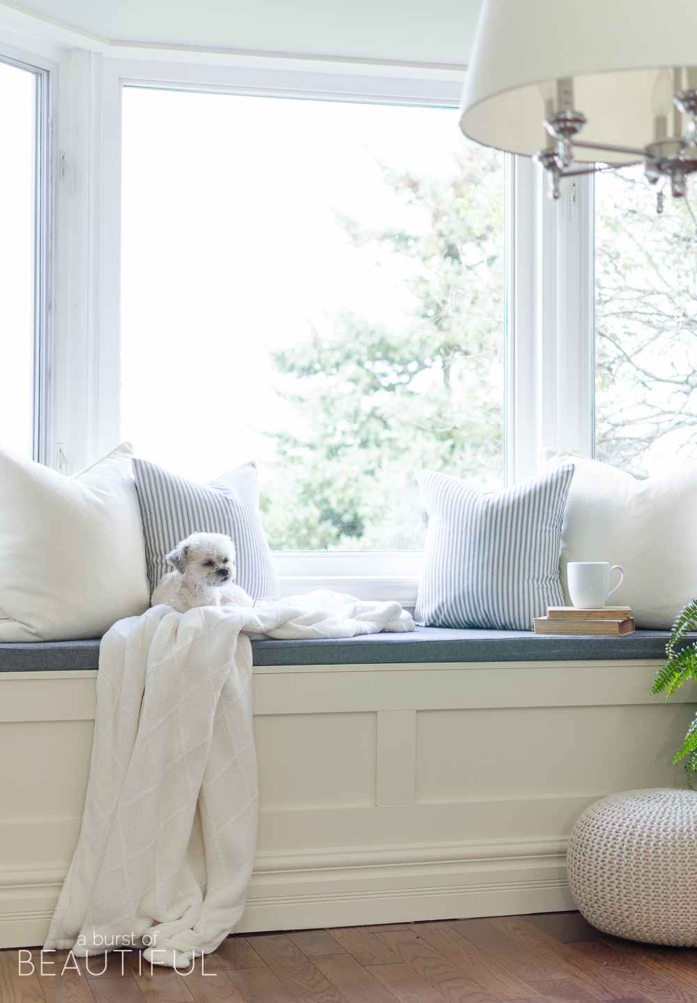 Best ideas about DIY Window Seats With Storage . Save or Pin DIY Window Bench with Storage A Burst of Beautiful Now.