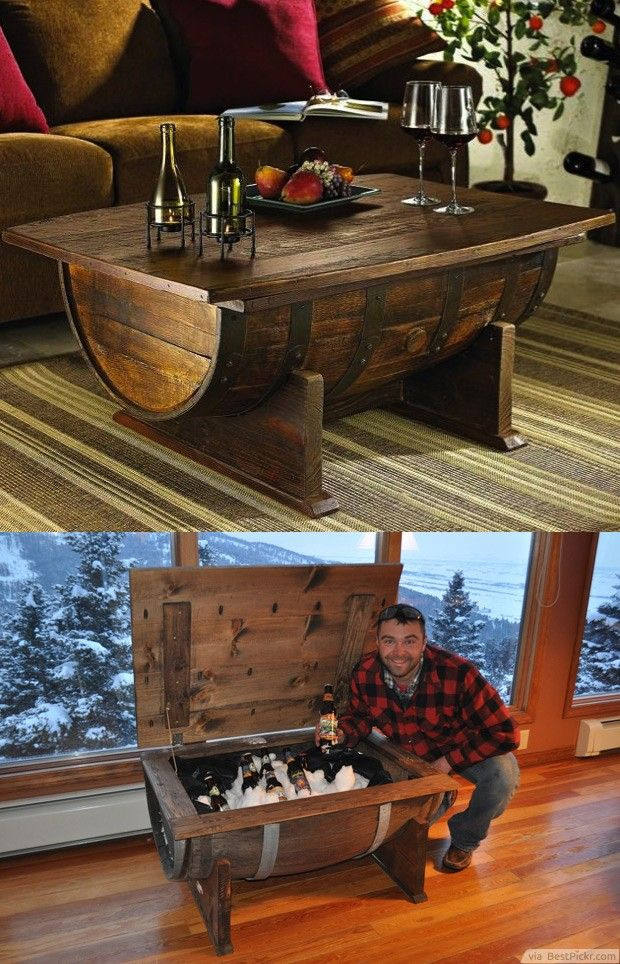 Best ideas about DIY Wine Barrel Table . Save or Pin DIY Old Wine Barrel Coffee Table With Storage For Cool Now.