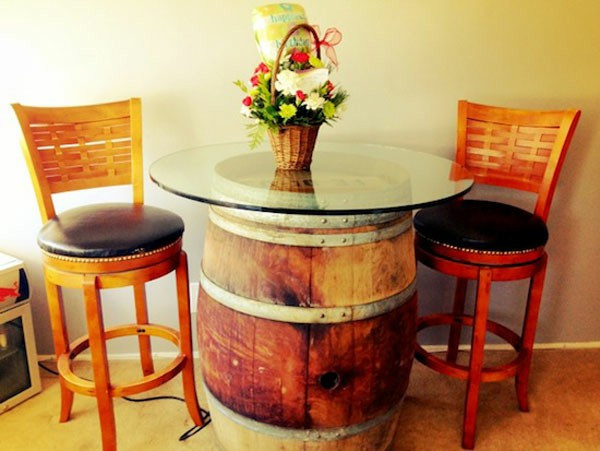 Best ideas about DIY Wine Barrel Table . Save or Pin Wine Barrel Bar Table And Many Other DIY Furniture The Now.