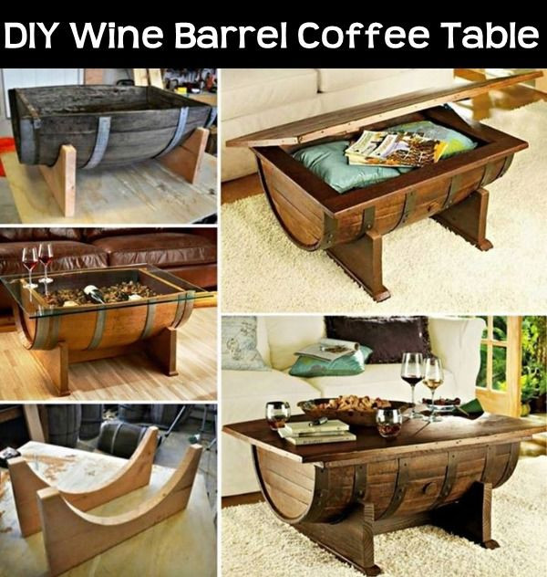 Best ideas about DIY Wine Barrel Table . Save or Pin DIY Wine Barrel Coffee Table s and Now.