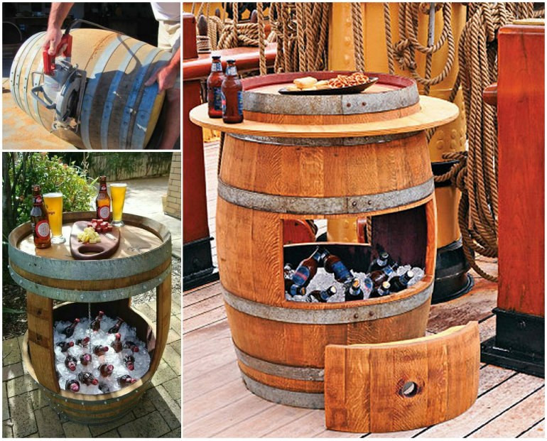 Best ideas about DIY Wine Barrel Table . Save or Pin Wonderful DIY Whiskey Barrel Coffee Table Now.
