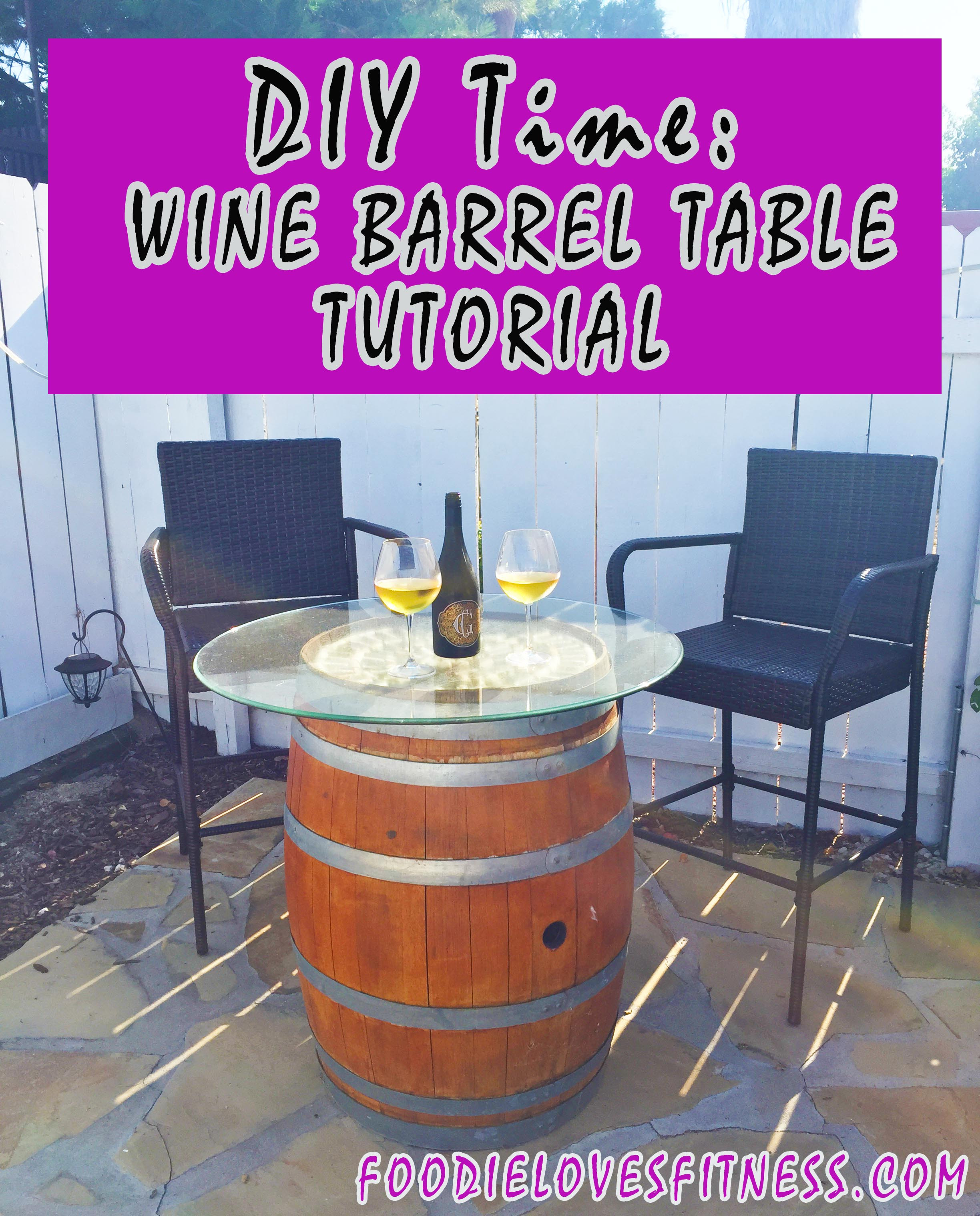 Best ideas about DIY Wine Barrel Table . Save or Pin DIY Time Wine Barrel Cocktail Table Tutorial • Foo Now.