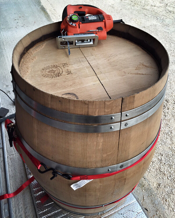 Best ideas about DIY Wine Barrel Table . Save or Pin DIY Wine Barrel Coffee Table Luxe Adventure Traveler Now.