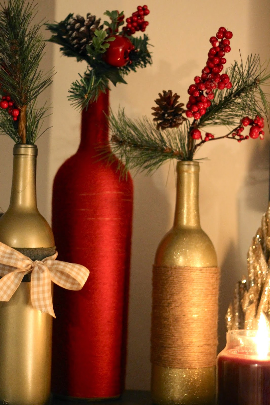 Best ideas about DIY Wine Bottle . Save or Pin DIY Holiday Wine Bottles Pretty in the Pines North Now.