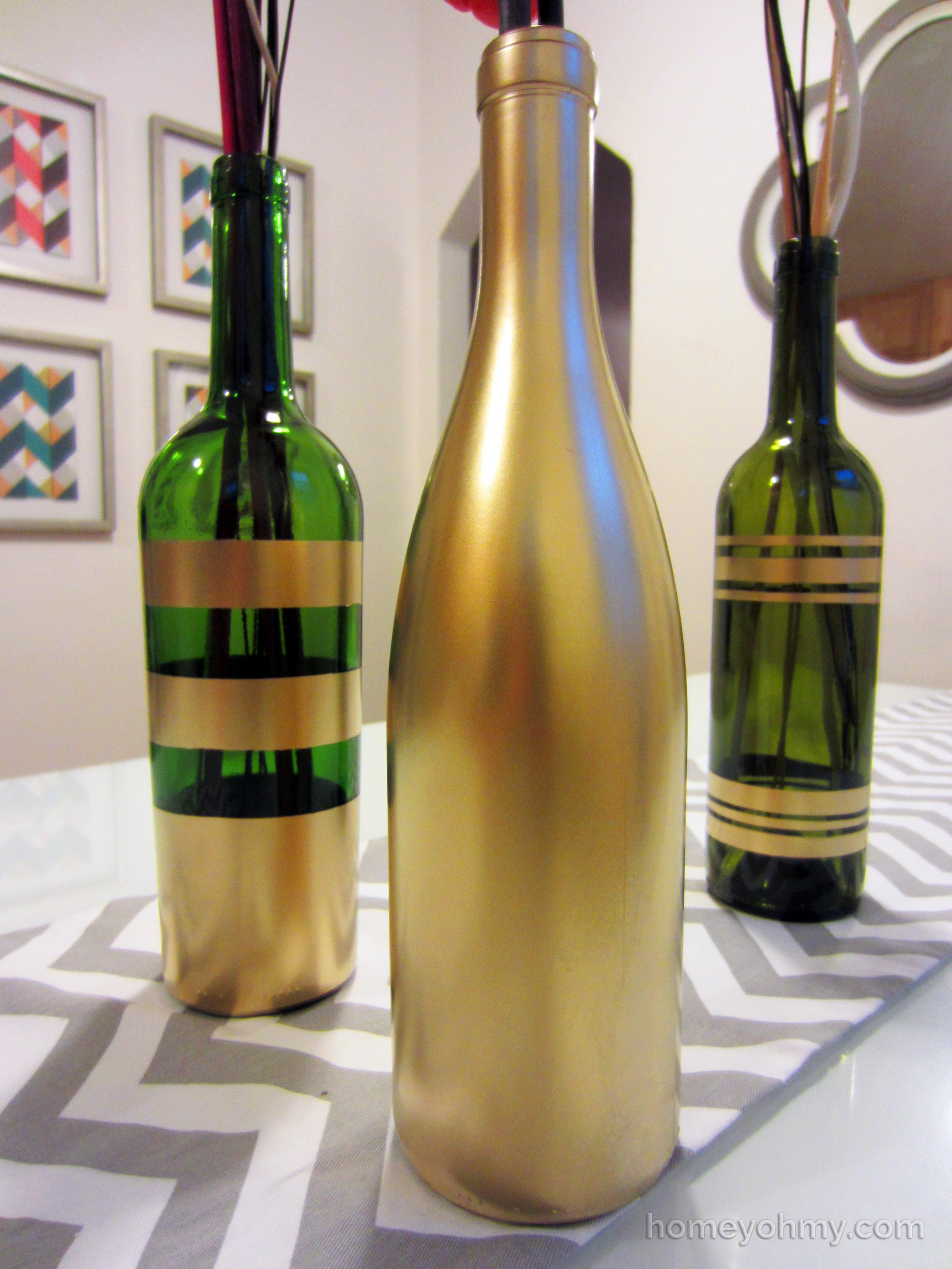 Best ideas about DIY Wine Bottle . Save or Pin DIY Spray Painted Wine Bottles for Fall Decorating Homey Now.