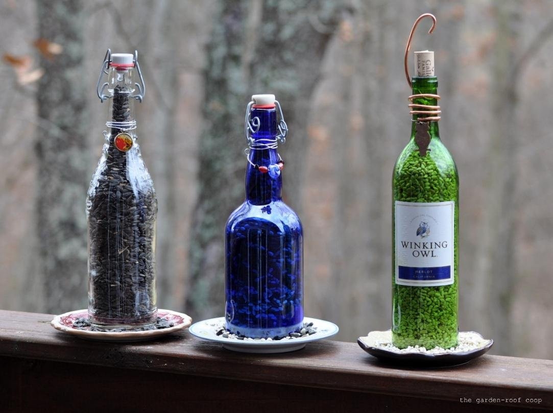 Best ideas about DIY Wine Bottle . Save or Pin the garden roof coop DIY Wine Bottle Bird Feeders Now.