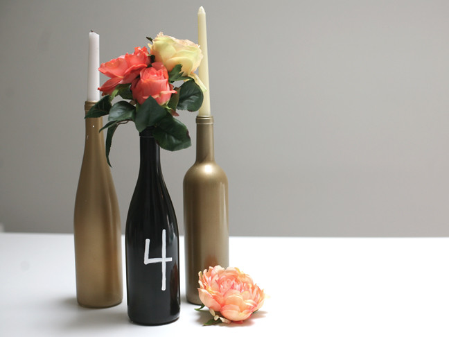 Best ideas about DIY Wine Bottle Centerpieces . Save or Pin DIY Wine Bottle Centerpiece Momtastic Now.