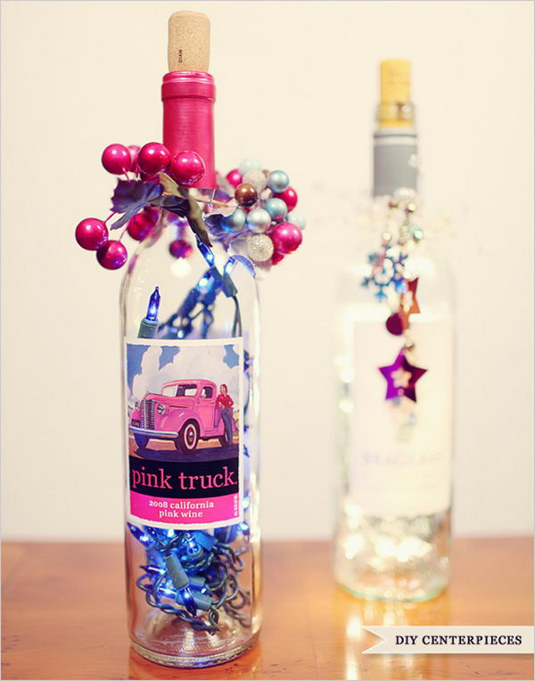 Best ideas about DIY Wine Bottle Centerpieces . Save or Pin Creative Wine Bottle Centerpieces Lots of Table Now.