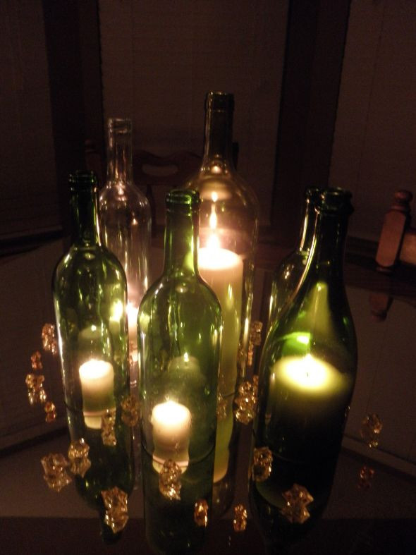 Best ideas about DIY Wine Bottle Centerpieces . Save or Pin My DIY Wine Bottle Centerpieces Now.