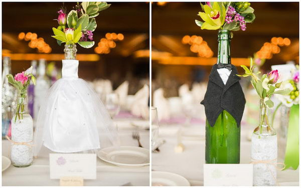 Best ideas about DIY Wine Bottle Centerpieces . Save or Pin 20 Creative Wine Bottle Centerpieces Hative Now.