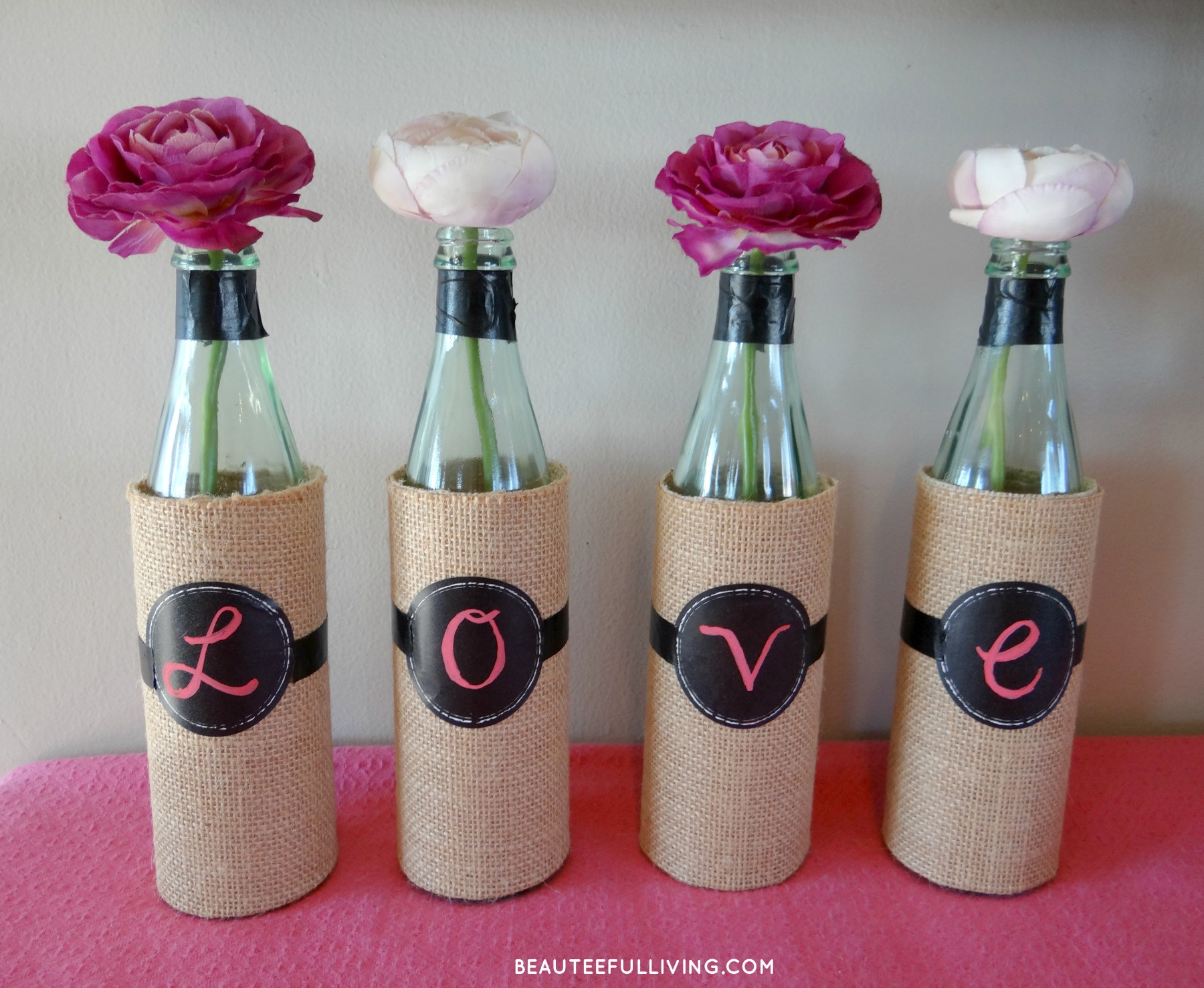 Best ideas about DIY Wine Bottle . Save or Pin DIY Wine Bottle Vases BEAUTEEFUL Living Now.