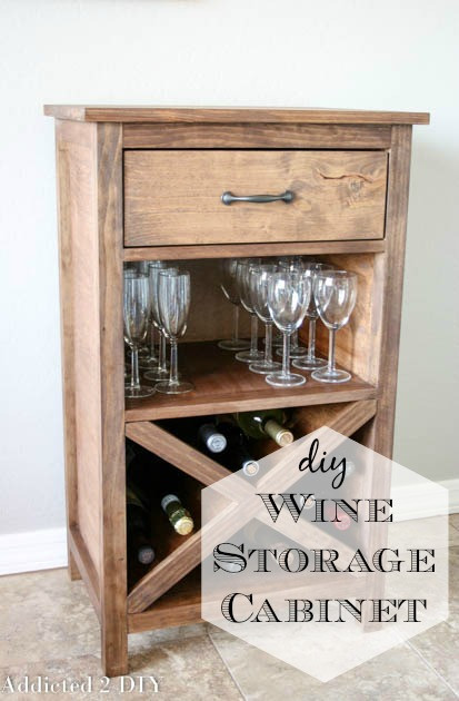 Best ideas about DIY Wine Cabinet . Save or Pin DIY Wine Storage Cabinet Addicted 2 DIY Now.