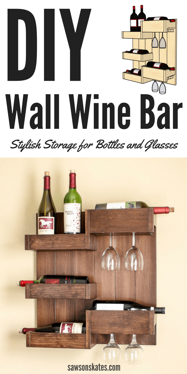 Best ideas about DIY Wine Cabinet . Save or Pin DIY Wine Bar Serves Up Stylish Storage for Bottles and Glasses Now.