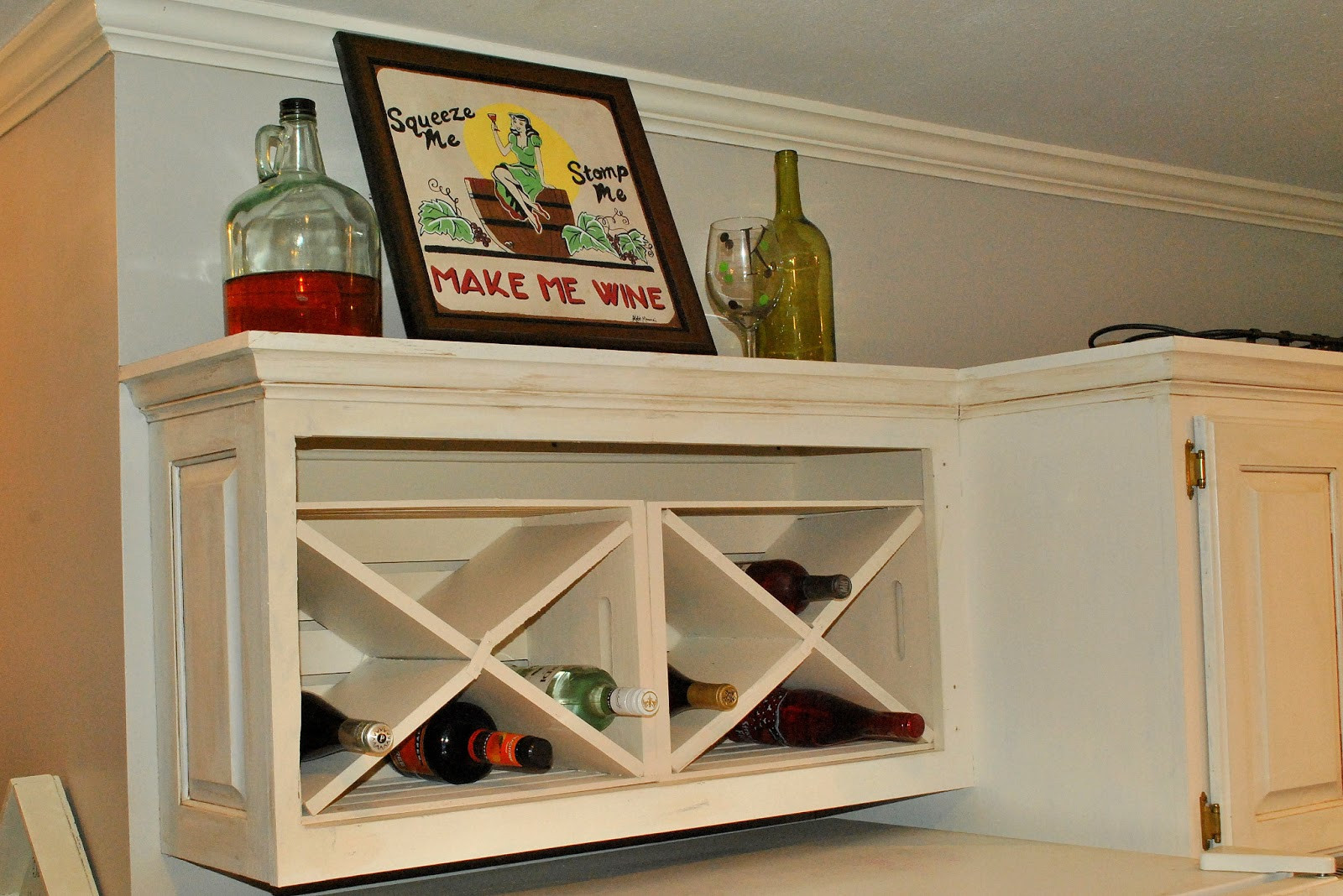 Best ideas about DIY Wine Cabinet . Save or Pin Amazing Grays DIY Over Fridge Wine Rack Now.