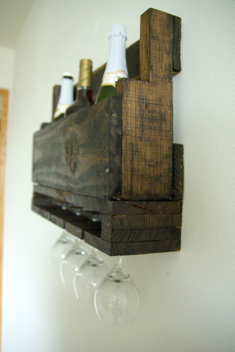 Best ideas about DIY Wine Rack Pallet . Save or Pin DIY Wall Mounted Wine Racks Made Pallets Now.