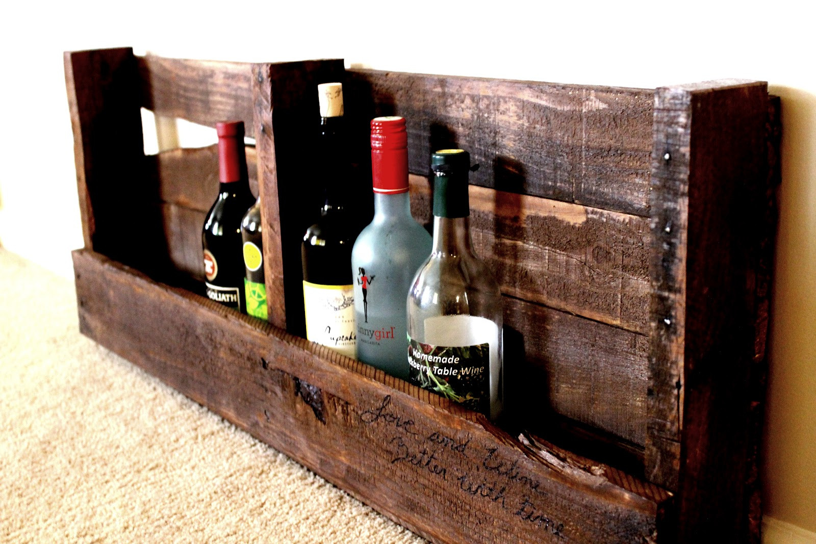 Best ideas about DIY Wine Rack Pallet . Save or Pin Life With Hope DIY pallet wine rack Now.