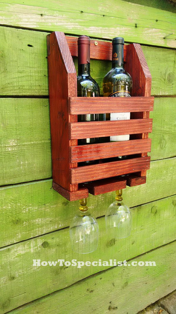 Best ideas about DIY Wine Racks Plan . Save or Pin How to Build a Wine Shelf with Glass Rack Now.
