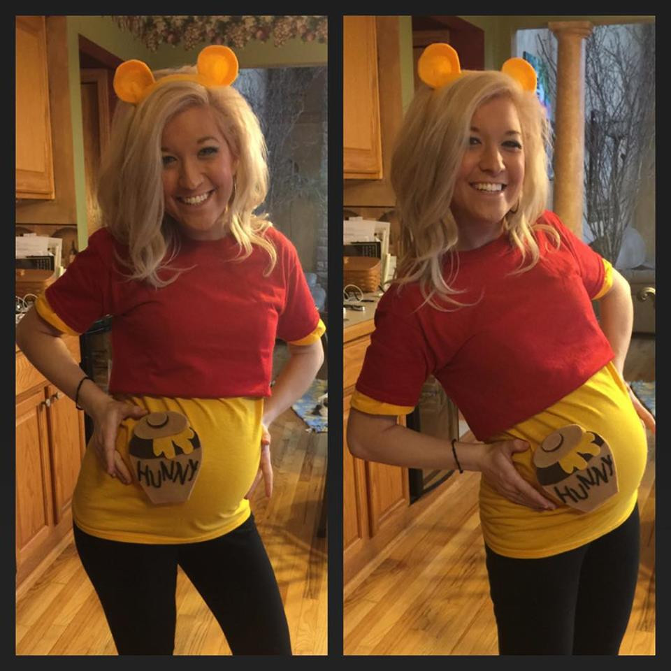 Best ideas about DIY Winnie The Pooh Costume . Save or Pin winnie the pooh pregnant costume halloween Now.