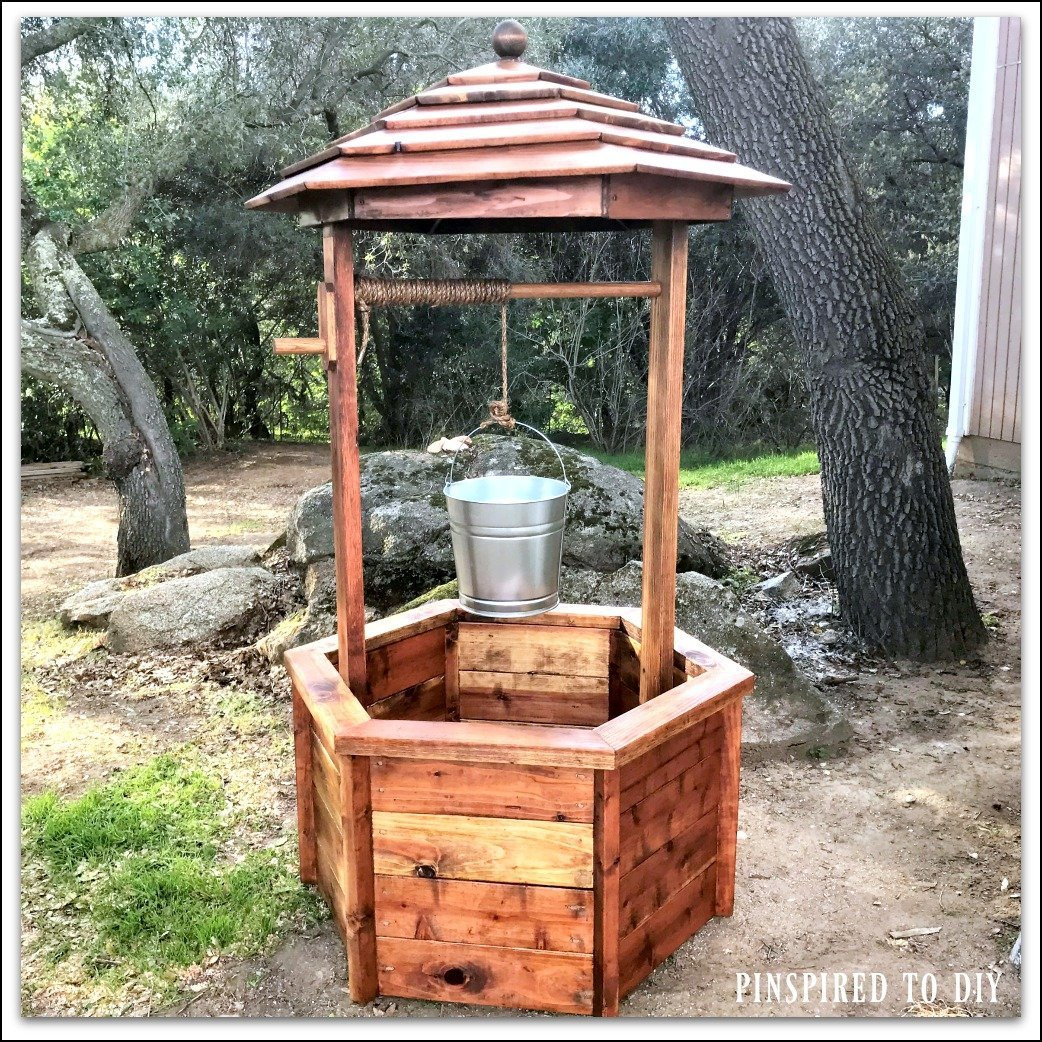 Best ideas about DIY Wishing Well Plans . Save or Pin DIY Wishing Well Free woodworking plans Now.