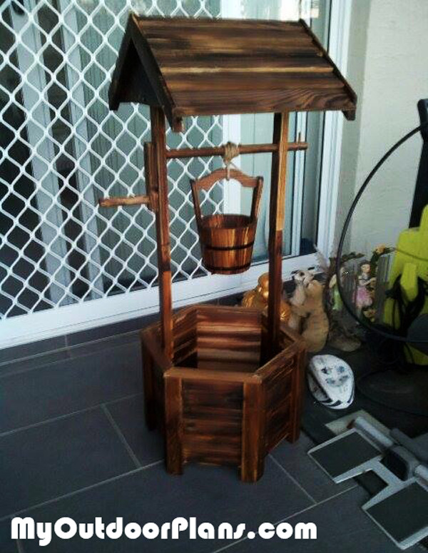 Best ideas about DIY Wishing Well Plans . Save or Pin DIY Hexagonal Wishing Well Planter MyOutdoorPlans Now.