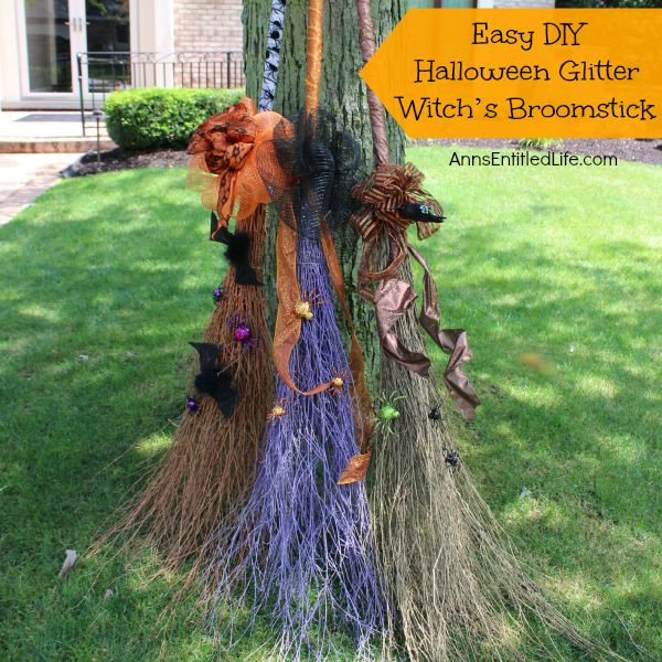 Best ideas about DIY Witch Broomstick . Save or Pin Easy DIY Halloween Glitter Witch's Broomstick Now.