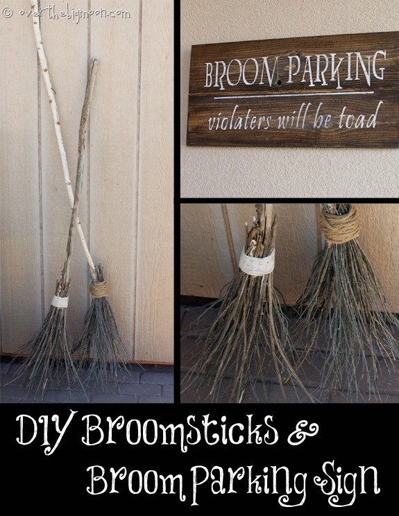 Best ideas about DIY Witch Broomstick . Save or Pin Make your own Witch Brooms and Halloween Signs Now.