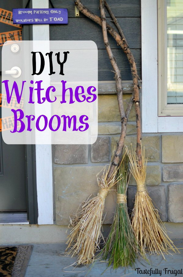Best ideas about DIY Witch Broomstick . Save or Pin 30 Awesome Halloween Decorations Hative Now.