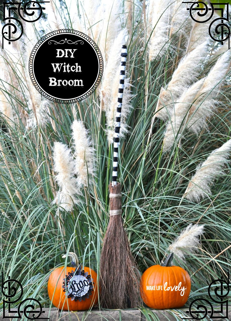 Best ideas about DIY Witch Broomstick . Save or Pin DIY Witch Broom Make Life Lovely Now.