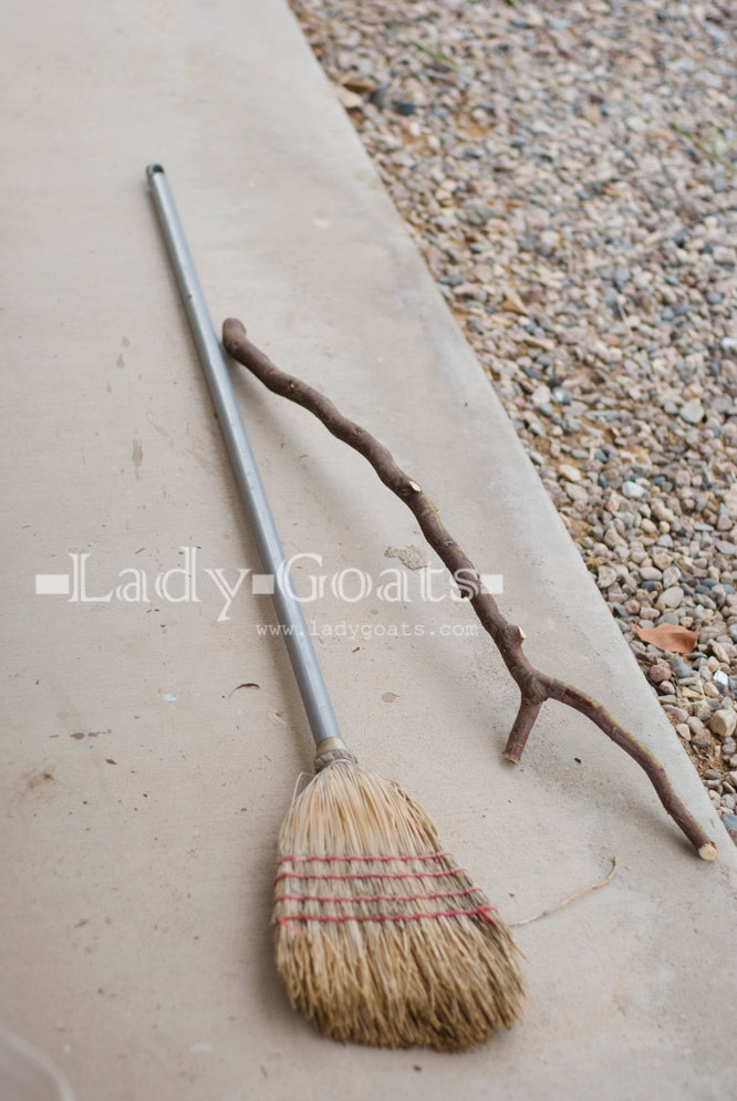Best ideas about DIY Witch Broomstick . Save or Pin Lady Goats DIY Witches Broom cheap to free Now.