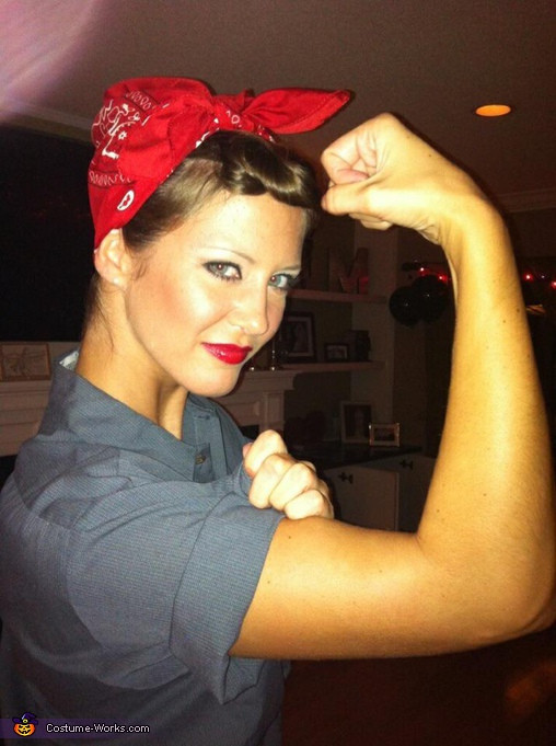 Best ideas about DIY Womens Halloween Costume Ideas . Save or Pin Rosie the Riveter Halloween costume Now.