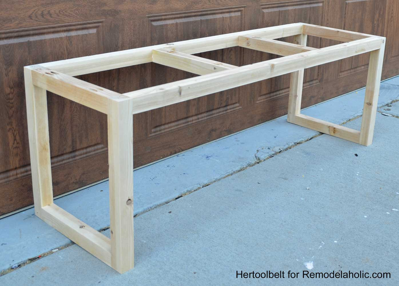 Best ideas about DIY Wood Bench . Save or Pin Remodelaholic Now.