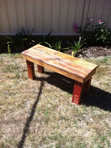 Best ideas about DIY Wood Bench . Save or Pin DIY Pallet Bench Now.