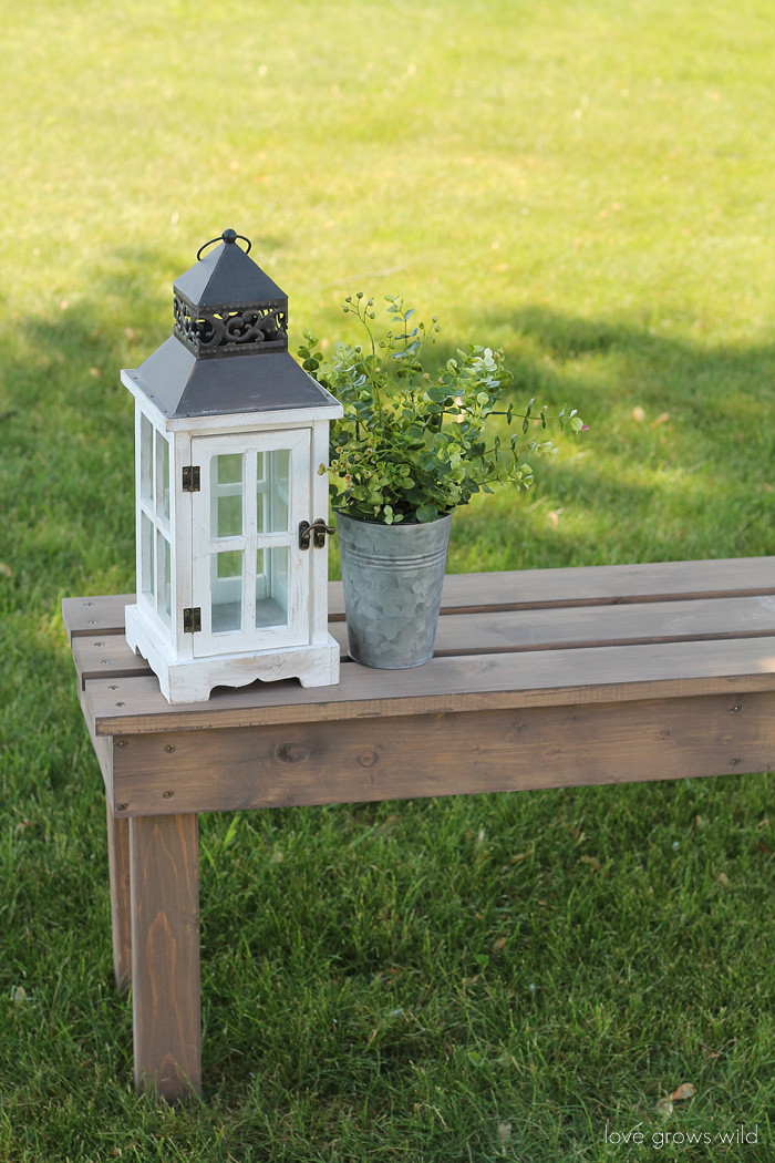 Best ideas about DIY Wood Bench . Save or Pin Easy DIY Outdoor Bench Love Grows Wild Now.
