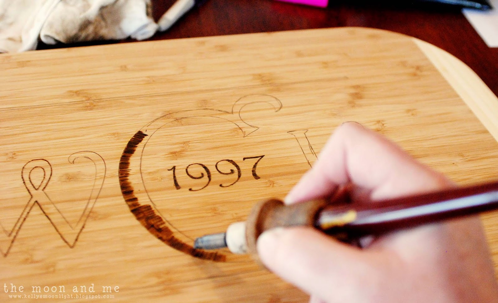 Best ideas about DIY Wood Burning . Save or Pin The Moon and Me DIY Personalized Cutting Board Now.