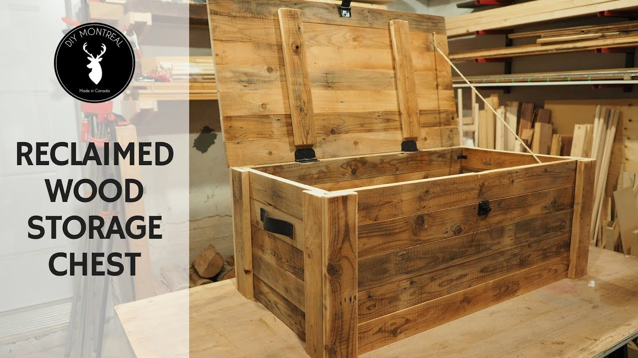 Best ideas about DIY Wood Chest Plans . Save or Pin Build a storage chest from reclaimed wood Now.