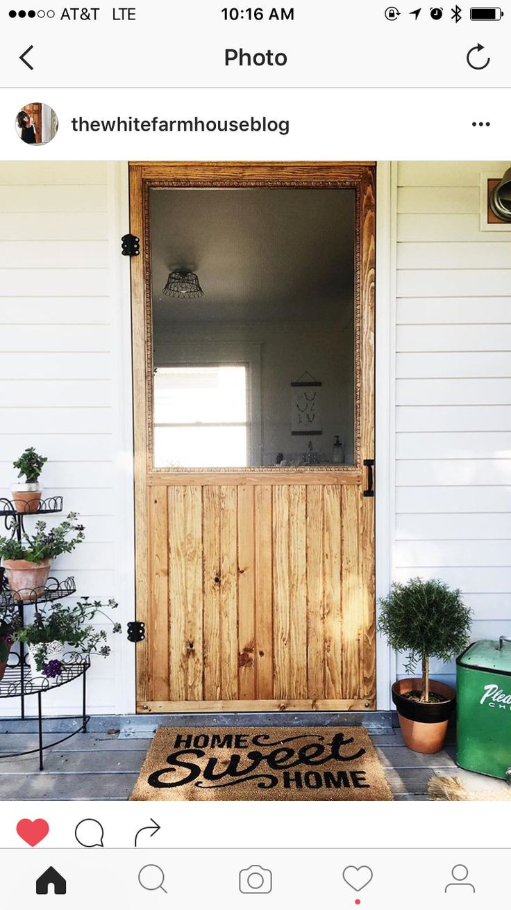 Best ideas about DIY Wood Door . Save or Pin 25 best ideas about Wood Screen Door on Pinterest Now.