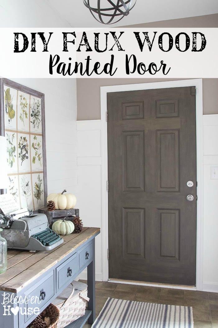 Best ideas about DIY Wood Door . Save or Pin DIY Faux Wood Painted Door Now.