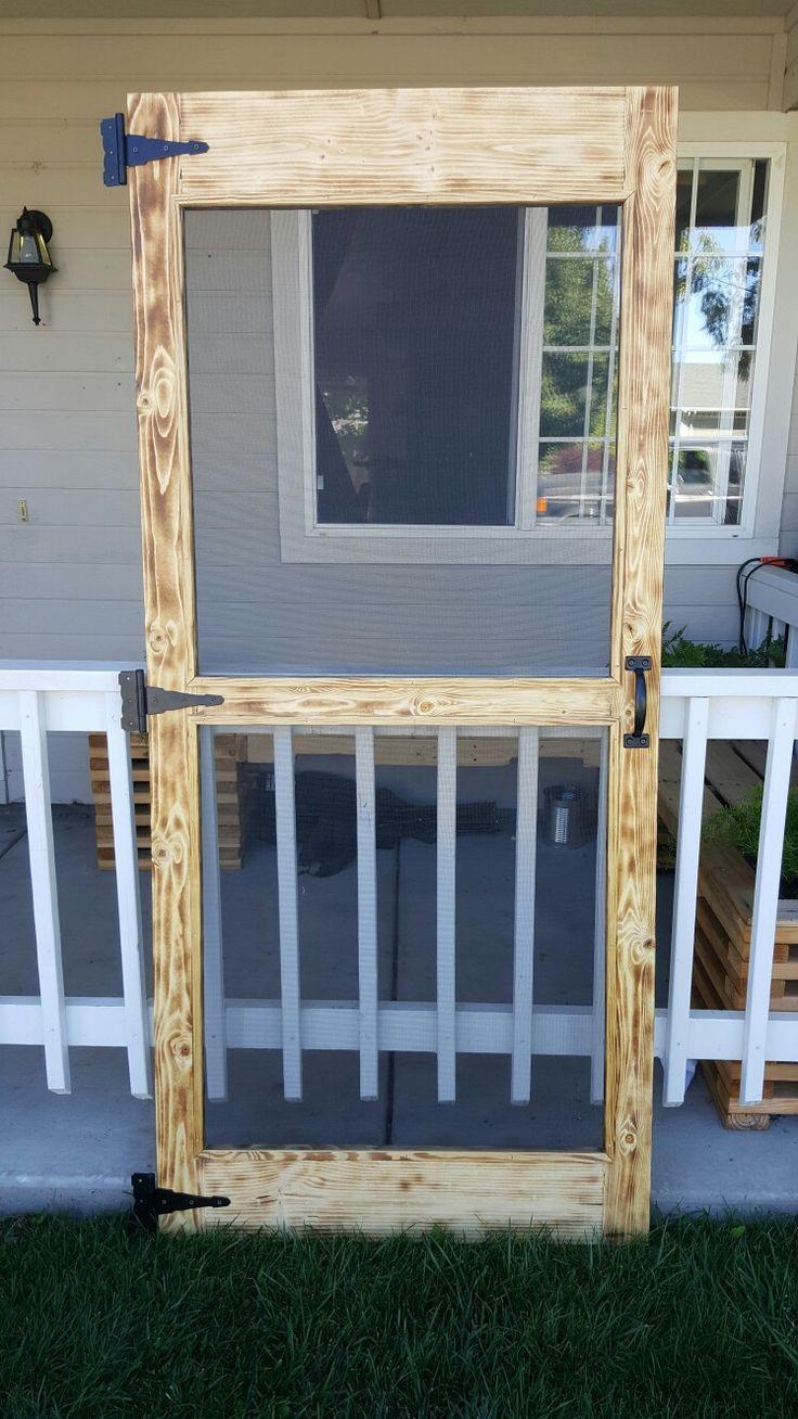 Best ideas about DIY Wood Door . Save or Pin Simple diy pallet screen door Now.