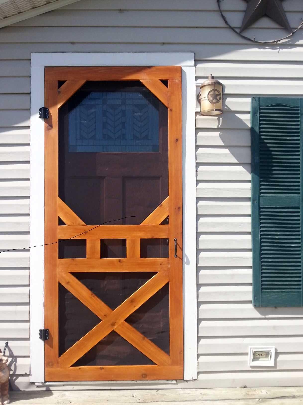 "Best ideas about DIY Wood Door . Save or Pin Diy screen door ""aww love me some fresh air"" Now."