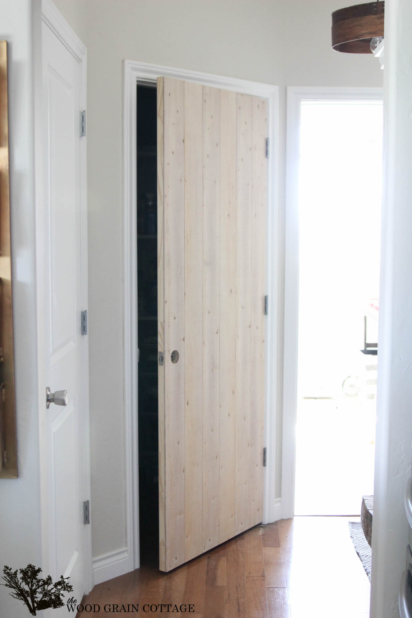 Best ideas about DIY Wood Door . Save or Pin DIY Wood Planked Pantry Door The Wood Grain Cottage Now.
