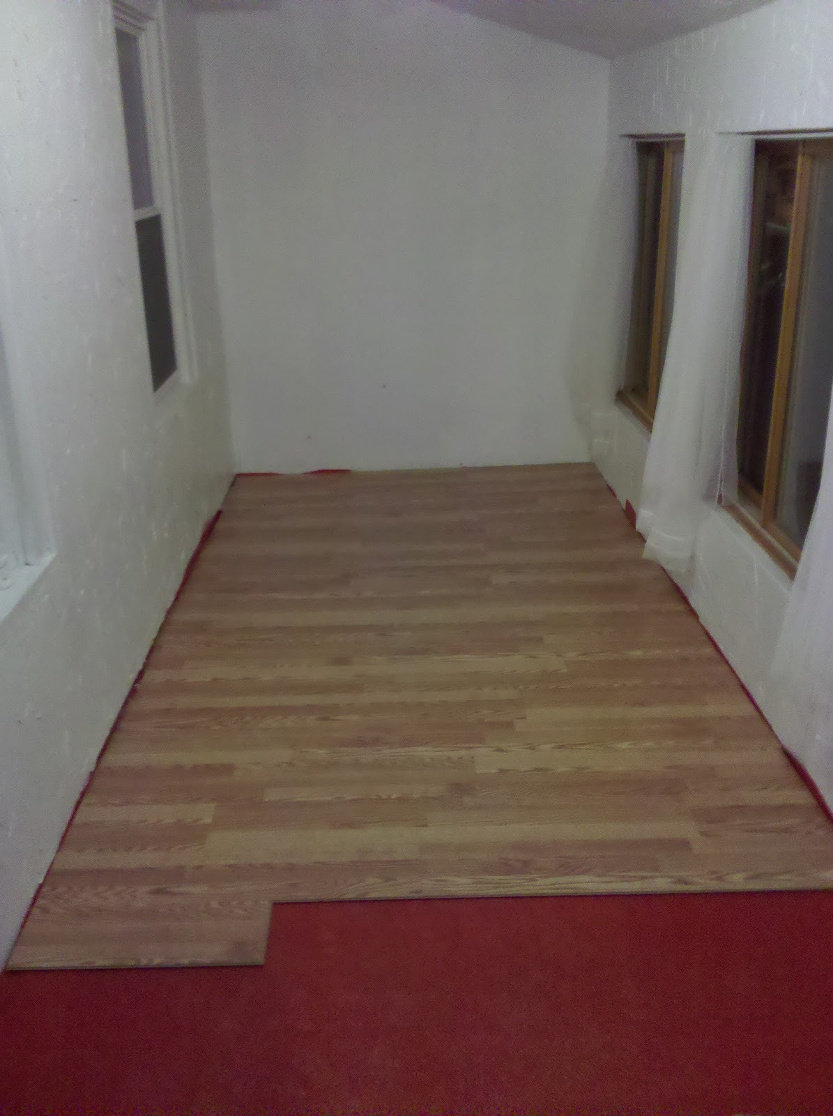 Best ideas about DIY Wood Floors . Save or Pin Hammers and High Heels Spare Room Flooring is Done DIY Now.