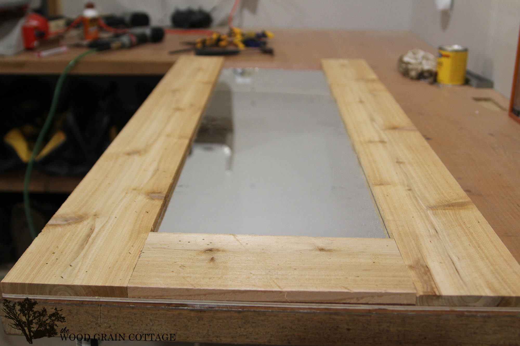 Best ideas about DIY Wood Frame . Save or Pin DIY Wood Framed Mirror The Wood Grain Cottage Now.