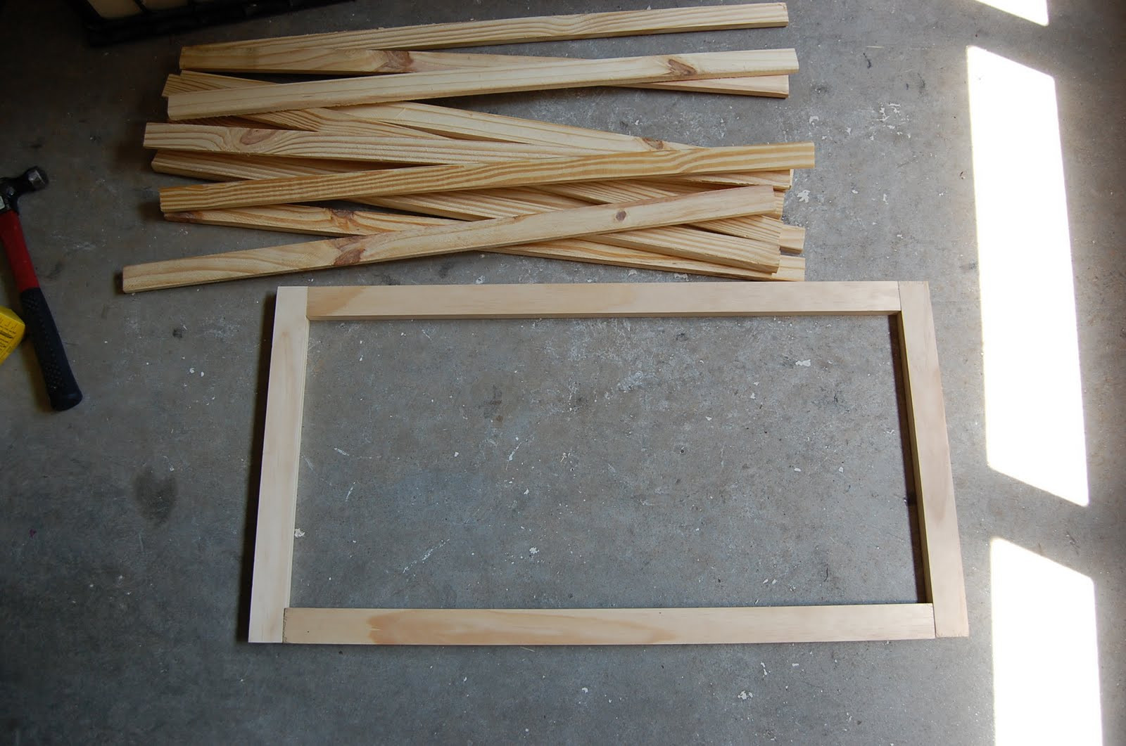 Best ideas about DIY Wood Frame . Save or Pin Make a Pottery Barn Inspired Flag Now.