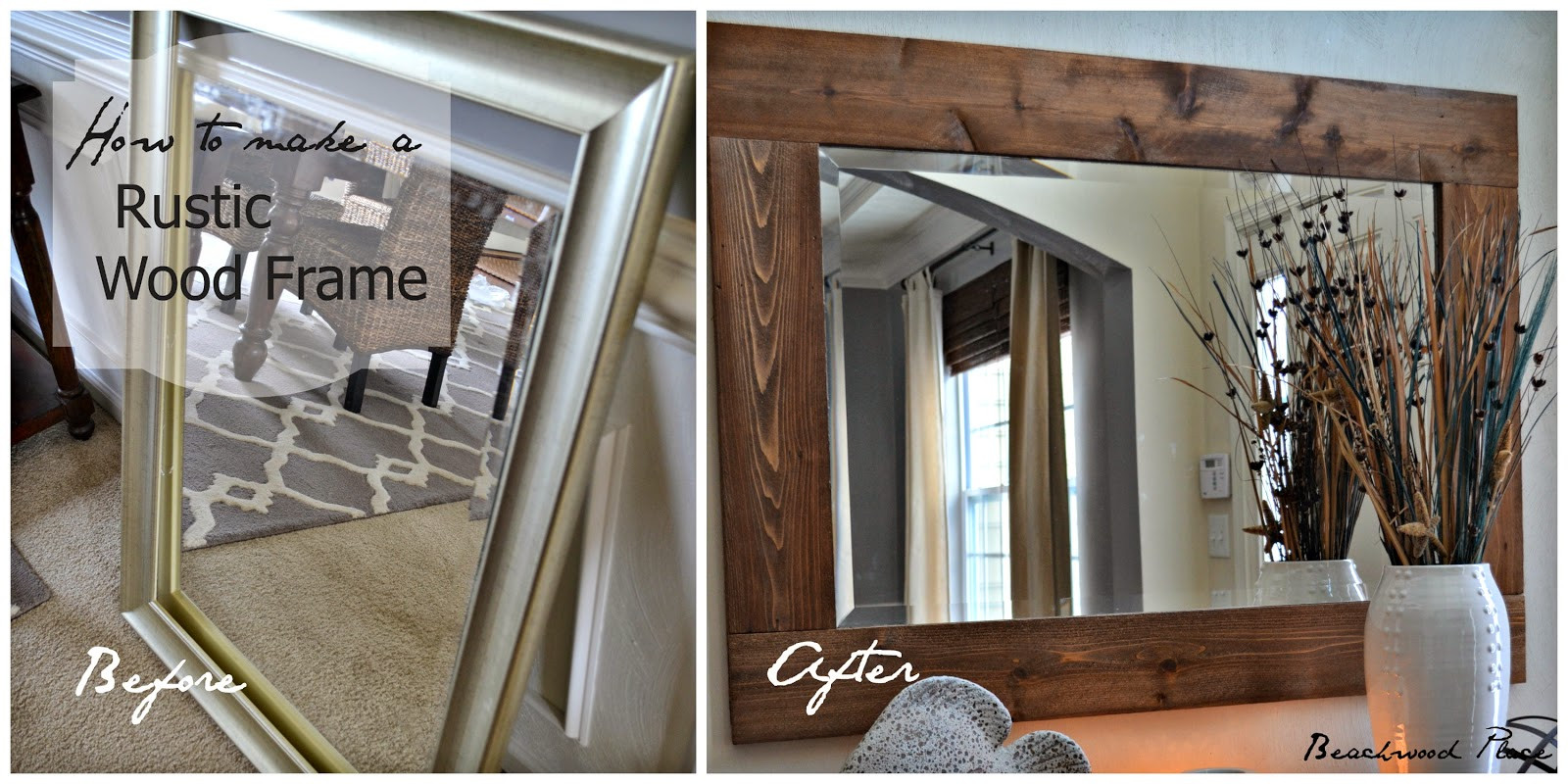 Best ideas about DIY Wood Frame . Save or Pin Beachwood Place DIY Wood Framed Mirror Now.