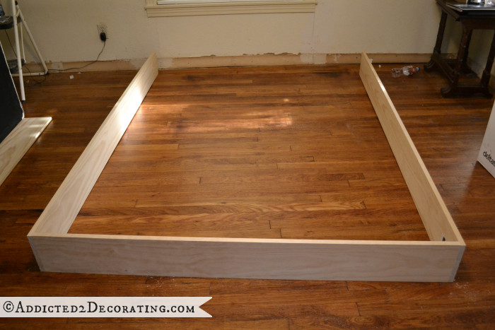 Best ideas about DIY Wood Frame . Save or Pin DIY Stained Wood Raised Platform Bed Frame – Part 1 Now.