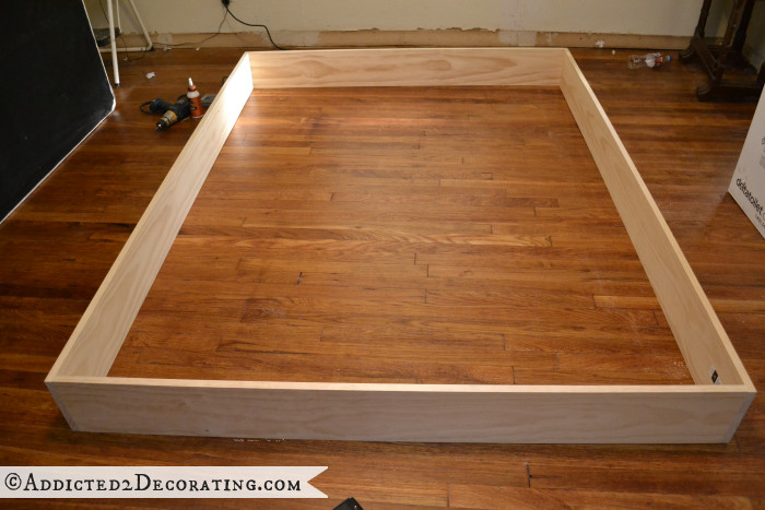 Best ideas about DIY Wood Frame . Save or Pin DIY Stained Wood Raised Platform Bed Frame Part 1 Now.