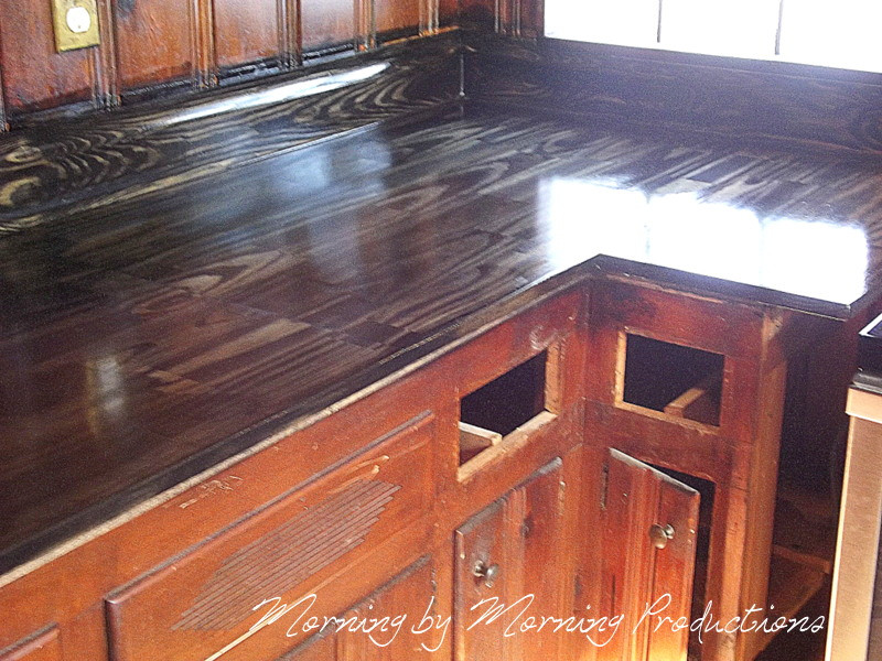 Best ideas about DIY Wood Plank Countertops . Save or Pin Morning by Morning Productions DIY Kitchen Countertops Now.