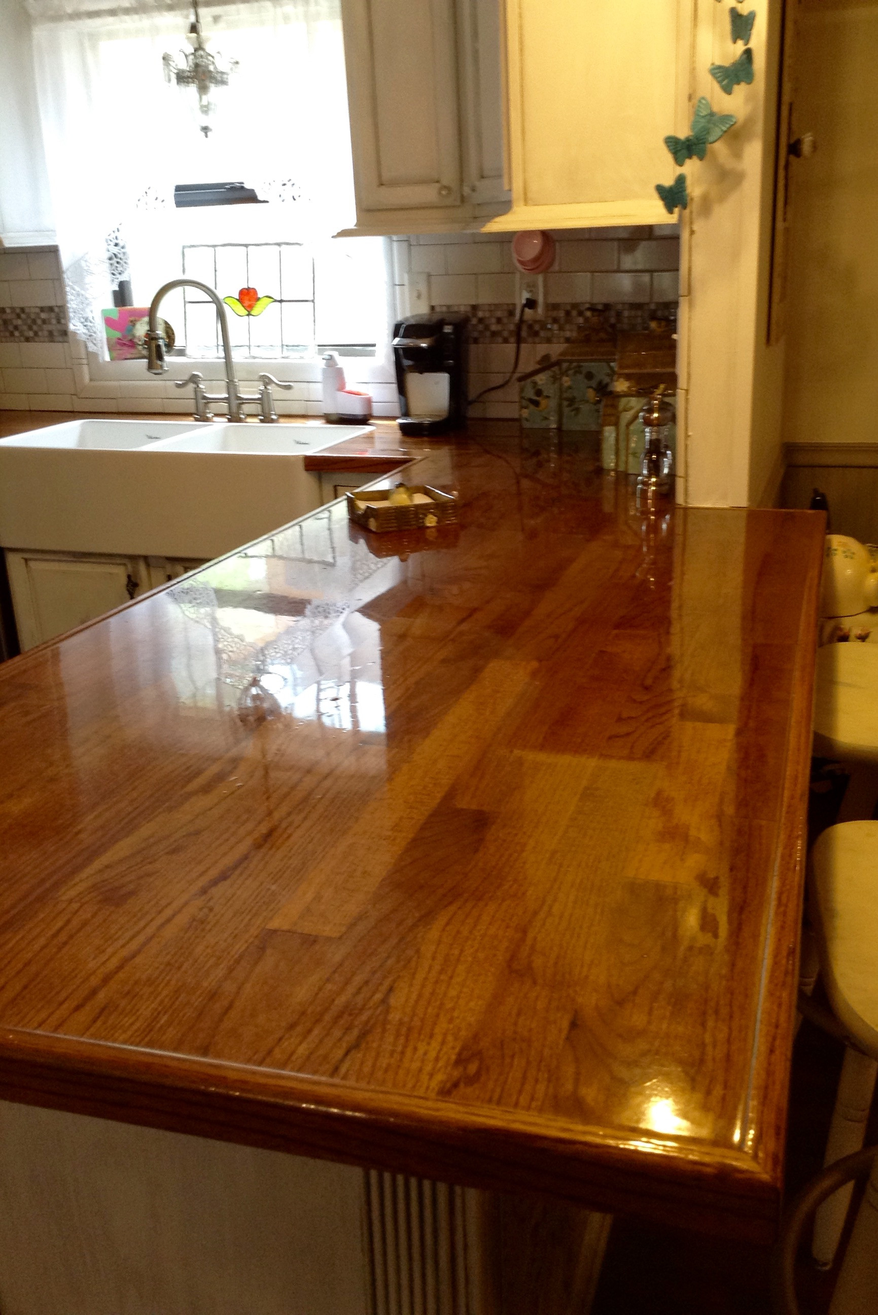 Best ideas about DIY Wood Plank Countertops . Save or Pin Remodelaholic Now.